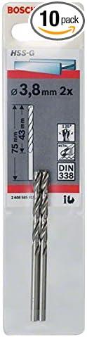 8mmx43mmx2.95In 2 Pcs Bosch 2608585915 Metal Drill Bit Hss-G 3