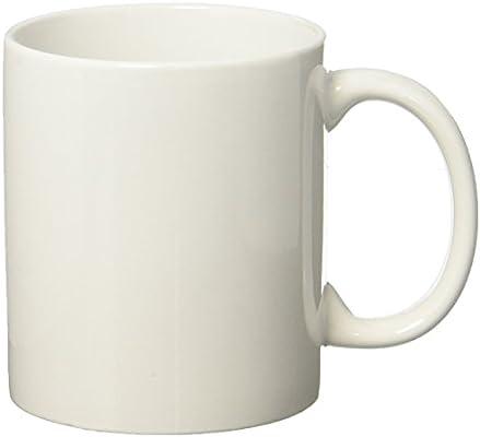 Momugs 12 Oz Cup Plain Gloss White Ceramic Coffee Mug For Milk Tea Amazon Sg Home