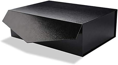 PACKHOME - Caja de Regalo magnética Negra de 14 x 9.5 x 4.5 ...