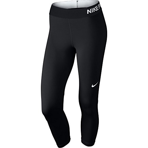 Nike Pro Cool Women's Training Capris (X-Large, BLACK///WHITE)