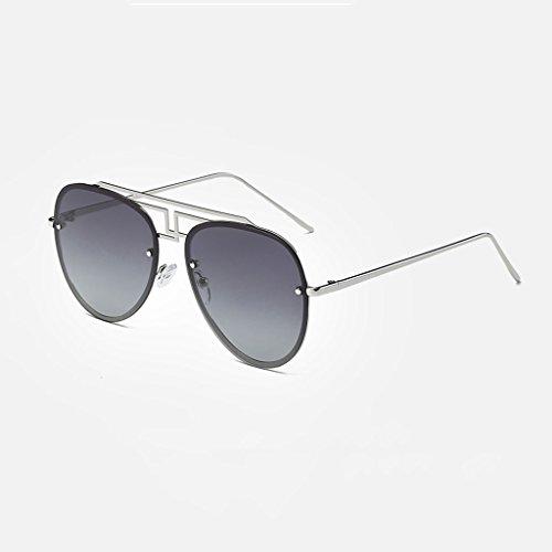 Cómodas Polarización LSX Lens Actividades Tendencias Grey Las Silver Sol LX UV de Grey Silver contra Nuevas de Frame Frame Las Gradient Lens Color Gradient Gafas Las Que Gafas conducen de U5qxnnSO