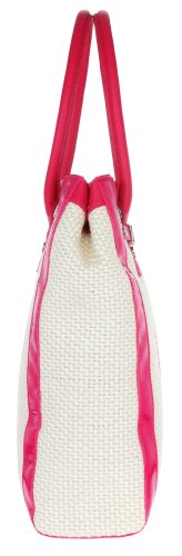 Versace, Borsa tote donna Beige creme-pink 32 cmx 36 cmx 10 cm