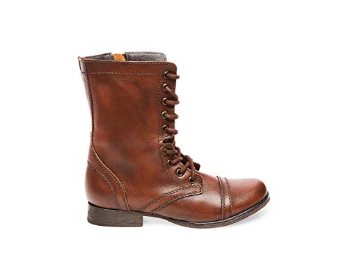 Steve Madden Women's Troopa Brown Leather Bootie Casual 10 US