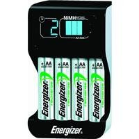 Energizer Compact  Charger With 4 AA NiMH Rechargeable Batte