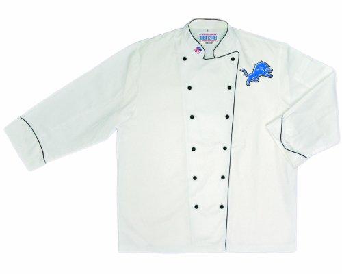 NFL Detroit Lions Premium Chef Coat (Large) (Detroit Lions Apron)