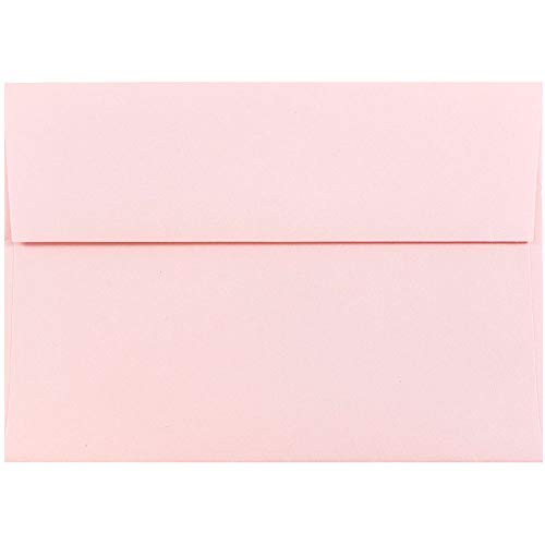JAM PAPER A7 Premium Invitation Envelopes - 5 1/4 x 7 1/4 - Baby Pink - 50/Pack