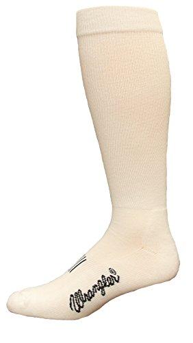 Wrangler Men's Wick Dry Western Boot Extended Size Sock, White ()
