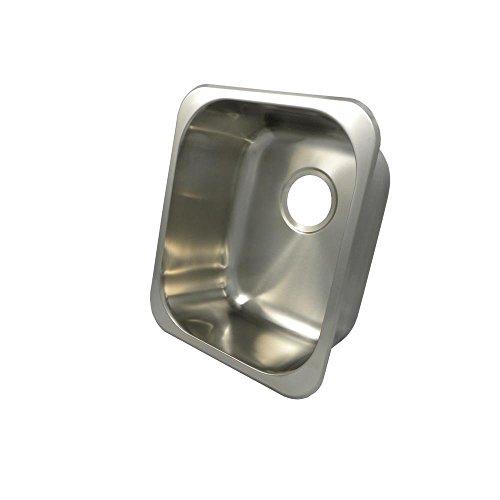 Opella 13203.046 Undermount or Drop In Single Bowl Kitchen Sink, 16 Inch x 14 Inch