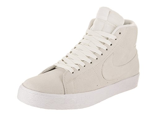 NIKE Men's SB Zoom Blazer Mid Decon Summit White/Summit White Skate Shoe 8 Men US (Nike Blazer)