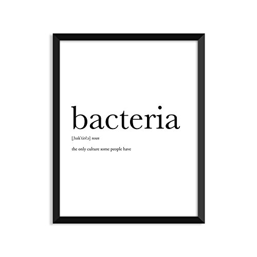 Bacteria definition - Unframed art print poster or greeting card