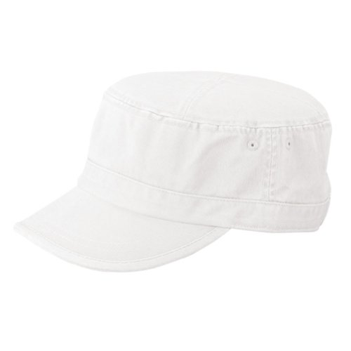 (MG Women's Enzyme Washed Cotton Twill Cap (White))