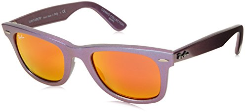 Ray-Ban WAYFARER - METALLIC OIL Frame BROWN MIRROR ORANGE Lenses 50mm - Rb2140 Ban Ray Lenses