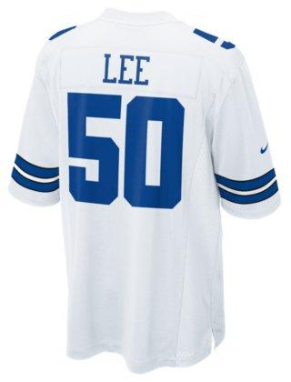 69b11aee8aa ... netherlands dallas cowboys sean lee 50 nike white game replica jersey  3xl 4xl fede7 ced12