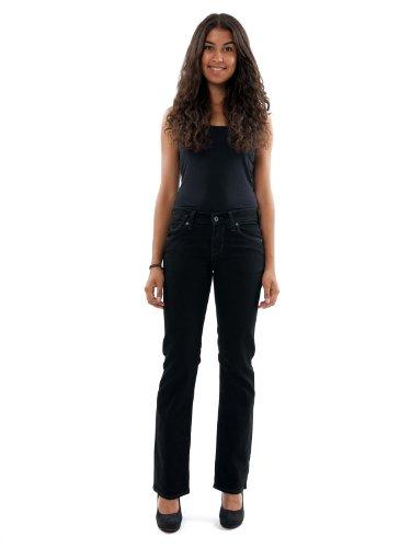 Mustang Da Oregon black Donna Straight Girls Nero Pantolon qzSfwBSP