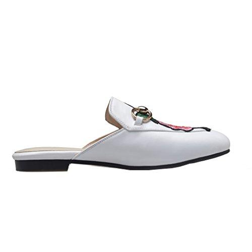 7 Bianco 5 Uk Piatta Foknvs Donne Centimetri Sporco Pantofole Slip 2 Vaneel on P17Unwqx