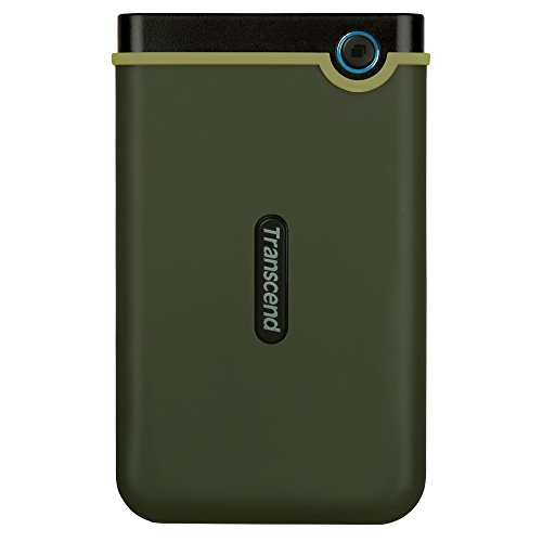 Transcend Information 2 TB StoreJet M3 USB 3.0 Slim External Hard Drive, Military Green (TS2TSJ25M3G)