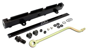 AEM 25-111BK Black High Volume Fuel (Honda Civic Aem Fuel Rail)
