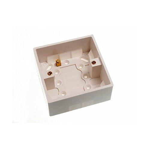 Moulded Pattress Surface Mount Back Box Single 1 Gang 35Mm DIRECT HARDWARE