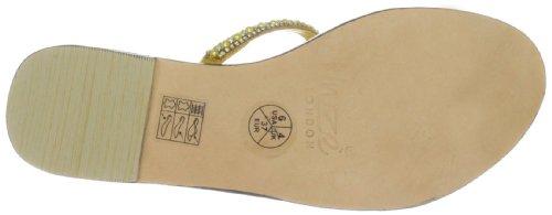 Unze Evening Slippers L18341W - Sandalias para mujer Amarillo