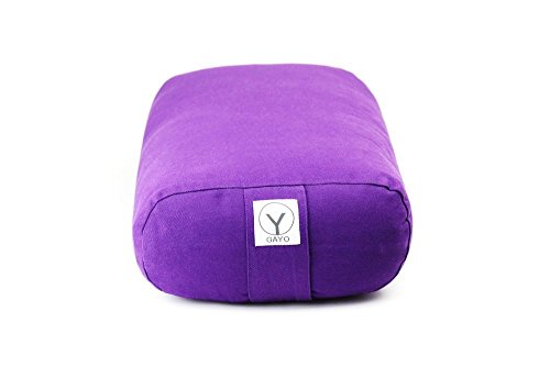"Buy 1 get 1 50% off 100% Organic Cotton Meditation Cushion SMALL travel size Rectangular Relaxation Pillow (Purple) (15""x 10""x 5"") …"