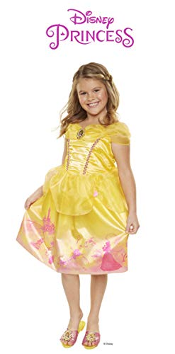 Disney Princess 4314 Belle Explore Your World Dress, Size: 4-6x, Yellow ()