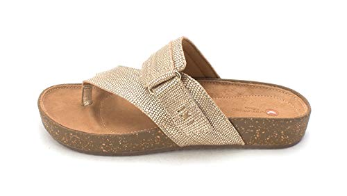 CLARKS Womens Rosilla Dover Open Toe Casual, Gold Metallic, Size 5.5
