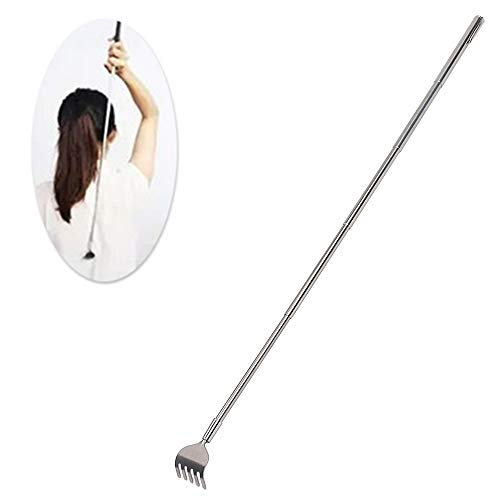 Stainless Steel Telescopic with Pocket Clip Itch Scratch Tool Body Massage Heath Care Product Extendable Back Scratcher