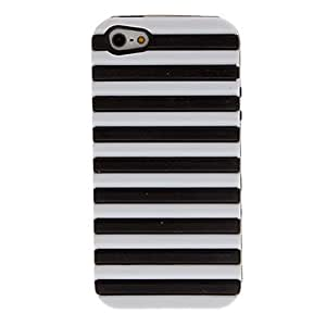 2-in-1 Design Noctilucent Case with Silicone Inside Cover for iPhone 5/5S (Assorted Colors) --- COLOR:Black