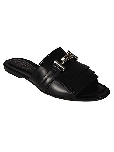 Black Sandals Women's XXW0OV0Y460GOCB999 Leather Tod's Ywq06Tf