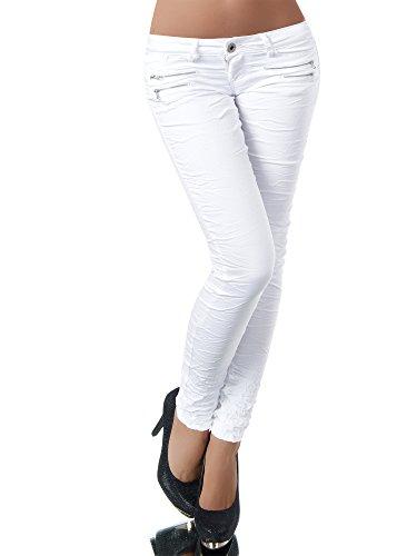 Diva-Jeans Jeans - Skinny - Uni - Femme Wei?