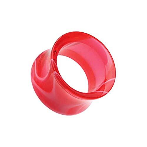 (Covet Jewelry Marble Swirl Acrylic Double Flared Ear Gauge Tunnel Plug (7/8