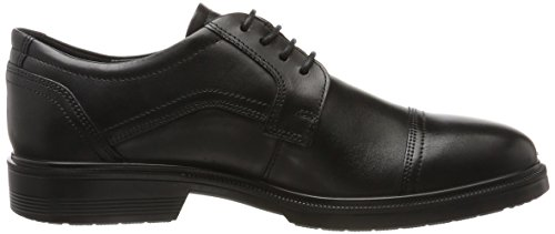 Ecco Mens Lisbon Cap Cravatta Oxford Nero