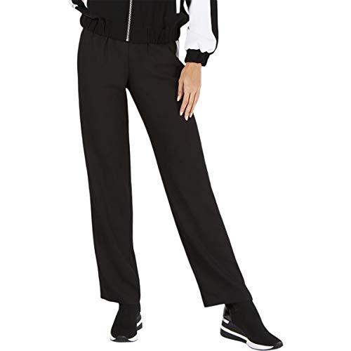 Michael Michael Kors Womens Striped Drawstring Track Pants B/W XS Black/White
