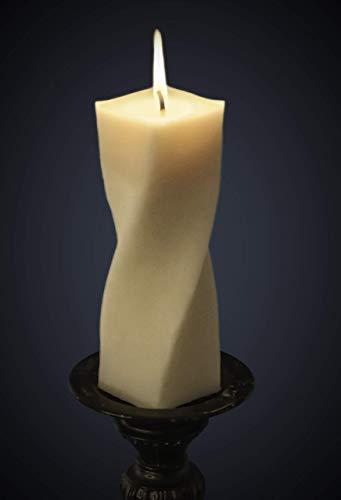 Beeswax Candle Pillar (RêveLights Helix Pillar Candle - 7