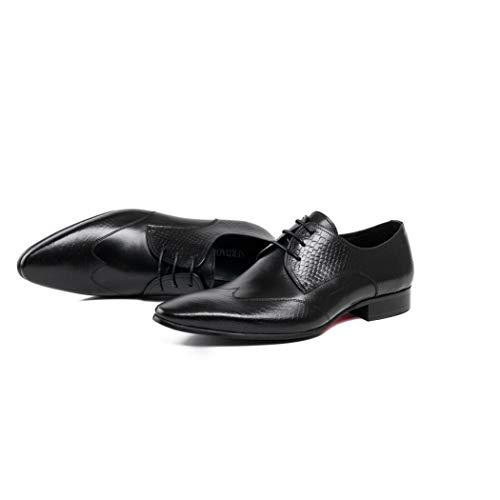 Hombres De Negro Apuntan Tamaño Flysxp Eu Zapatos 39 La Cuero Botas Hombres Tendencia Negro Los color A Casuales Inglaterra trUvwFUq