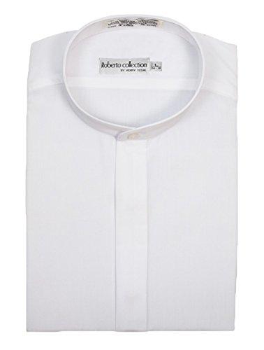 Henry Segal Men's Banded Collar Dress Shirt, White 3XL 34/35 ()