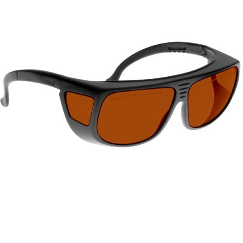 Noir Spectra Shields Large Adjustable -Fitover 35 Percent Amber-Orange by nOir