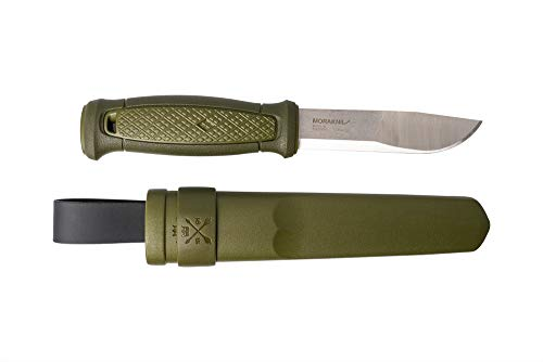 Morakniv Kansbol Fixed Blade Knife with Sandvik Stainless Steel Blade and Plastic Sheath, 4.3-Inch