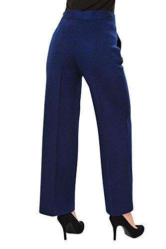Ancho Recto 40 Missoni Acryl Mujer M Corte Oscuro Pantalón It Azul qBUc8a