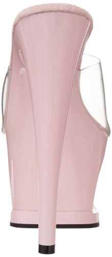 Pleaser Moon-701tg - Sandalias Mujer Pink (Rosa (Clr/B. Pink))