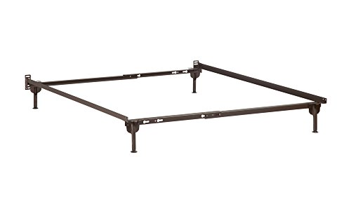 Atlantic Furniture Metal Bed Frame with Glides, Twin, Twin X