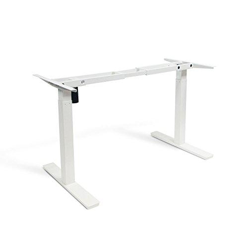 Autonomous SmartDesk - Height-Adjustable Standing Desk - Single Motor - White Frame