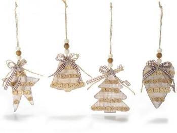 Decorazioni In Legno Per Albero Di Natale : Decorazioni in legno addobbi di natale in legno da appendere