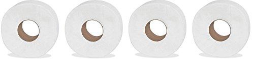 Genuine Joe GJO2565012 2-Ply Jumbo Roll Dispenser Bath Tissue, 650', White (Pack of 12) (4-(Pack of 12))