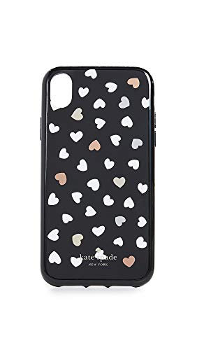 Kate Spade New York Heartbeat iPhone XR Case, Black/White, One Size