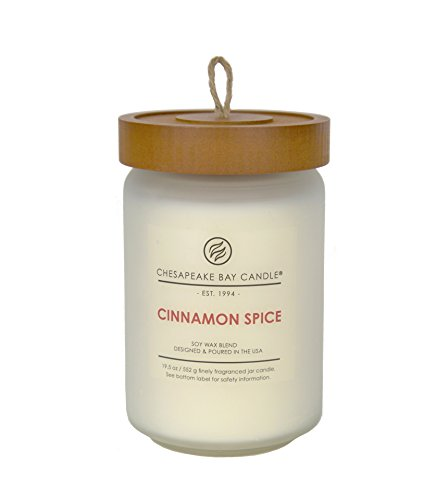 (Chesapeake Bay Candle Scented Candle, Cinnamon Spice, Large Jar)