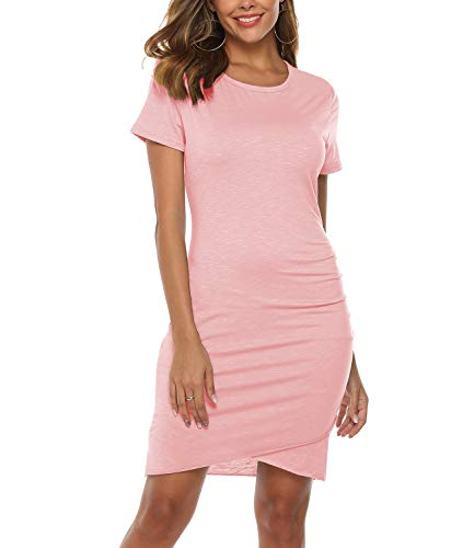 Mansy Womens Summer Sexy Cocktail Party Dress Short Sleeve Mini Dresses