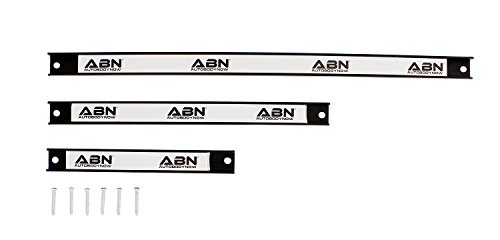 "ABN Magnetic Tool Holder 3-Piece Set of 8"", 12"", 18"" Inch Strip Racks with Mounting Screws – For Garage and Workshop by ABN (Image #3)"
