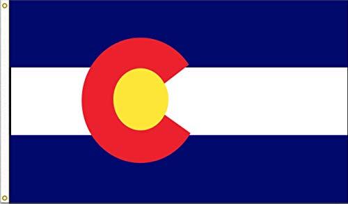 Colorado US State Flag: 3x5foot poly Color: Colorado, Model: , Home/Garden & Outdoor - Home Colorado Store