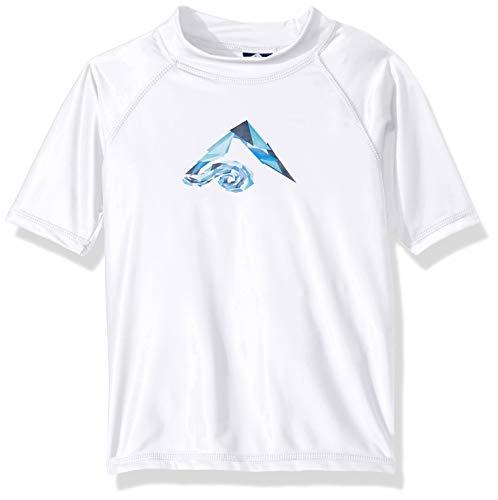 Kanu Surf Toddler Boys' Haywire UPF 50+ Sun Protective Rashguard Swim Shirt, Tahiti White, 2T ()